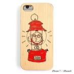 CAMPS iPhoneケース【ランタンおじさん】wood 木製カバー