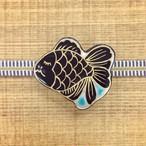 金魚(帯留・ブローチ)