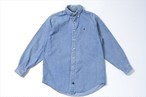 POLO COUNTRY sizeL  heavy denim shirt /Button down vintage