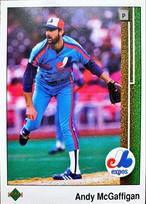 MLBカード 89UPPERDECK Andy McGaffigan #359 EXPOS