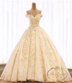 ladies wedding dress white long A-line happy ceremony 海外 クリーム ウエディングドレス ピンクホワイト かわいい Aライン
