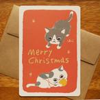 グリーティングカード[クリスマス・なかよし]封筒付き(GTC-C11)