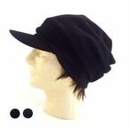 """Unisex ニットキャスケット"""" 大人用 つけ毛付き:wig/ショート/男女兼用/フリー M~L"""
