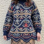 (LOOK) mulch color embroidery knit