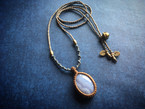 Blue Lace Agate Macrame Necklace