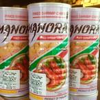 タイ風海老せん缶 fried shrimp chips ข้าวเกรียบกุ้ง มโนห์รา กระป๋อง 90g