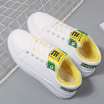 【shoes】アルファベット滑り止め暖かいスニーカー 24134196