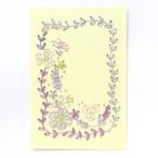 紙刺繍キット『バイオレットリース』ポストカード