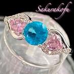 D068 送料無料 レディース 指輪 ブルー&ピンク ちび天使フォルム 人気デザイン シルバーリング
