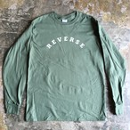 "REVERSE DESIGN L/S TEE""Military Green"""