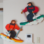 Ski people craft art