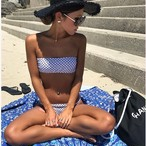 Squares pattern bikini