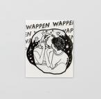 Walnut 刺繍パッチステッカー KISS