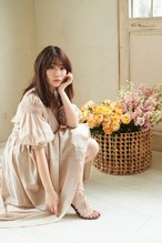 Airy Volume Sleeve Dress【Light Pink Beige】