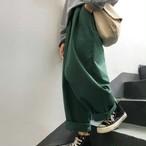 【送料無料】ゆったり楽ちん♡ メンズライク ハイウエスト カジュアルパンツ
