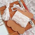§koko§ 引き揃え糸カード ~kawaii~ピンク オリジナル糸 ファンシー ラッピング レース タッセル