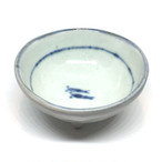【砥部焼/佐藤窯】高台小鉢(めだか)