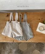 【予約販売】check suspender-pants〈monbebe〉