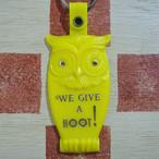 アメリカ WE GIVE A HOOT! フクロウ 広告ノベルティ ヴィンテージキーホルダー(黄色)