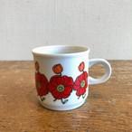 赤花マグカップ