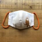 メンズGoldフクロウがとまっているDisk1オリジナル立体マスク