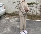 ニットフードセット フーディー セットアップ 韓国ファッション