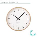 KATOMOKU plywood wall clock 5 km-49NRCS SKP電波時計