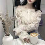lace offshoulder 2color