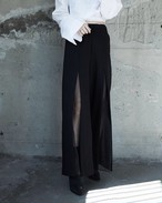 SEE THROUGH SLIT PANTS