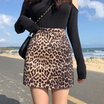 レオパードミニスカート ミニスカート レオパードスカート 韓国ファッション