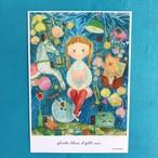 A4 POSTER「Plante bleue et Petit ours 」