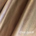 【レザー】カルトナージュ用イタリア製本革 36cm×36cm  oro gold(抑え目ラメゴールド)