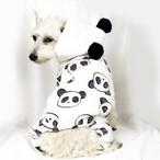 【犬服・ドッグウェア】可愛いパンダ柄!フード付きロンパース