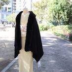 【ショール】エコファー 大判ショール / ブラック お洋服にも!