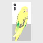 Xperia XZ セキセイインコ 黄ハルクイン ケース