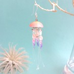 鉱石クラゲ  空想クラゲ藤桜の耳飾り