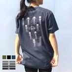 マッスルがいこつTシャツ[ギャクサン]【選べる3色*4サイズ】(白プリント)