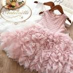 100 110 120 130 140 レースドレス ギャザー 可愛い 姫系 リングガール 撮影用 衣装 かわいい ピンク ホワイト