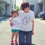 【2枚セット】ママとキッズのリンクコーデ(家族でおそろい) Tシャツ[Heart and heart]