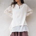 Cotton Henry Layered 2way Tunic《OWHT/PNK/BLK》18383027
