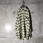 [used] lemon colour checked shirt