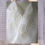 刺繍半衿・レンコンの刺繍半衿・オーガンジー
