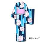 仕立上り浴衣㉖桜・雪輪柄