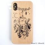 CAMPS iPhoneケース【みのむし】wood 木製カバー