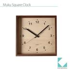 KATOMOKU square clock km-38BRC 電波時計