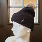 イニシャルニット帽(ブラック)