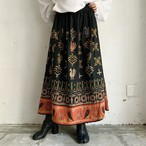 made in INDIA vintage embroidery skirt.
