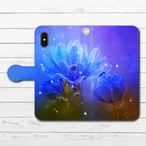 #000-181 iPhoneケース スマホケース 手帳型 全機種対応 おしゃれ 花柄 Galaxy ギャラクシー ケース タイトル:アネモネ