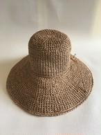 ラフィアクロッシェ帽子