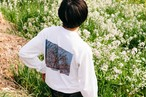 Barcode/Photo Long Sleeve T-shirt (White)